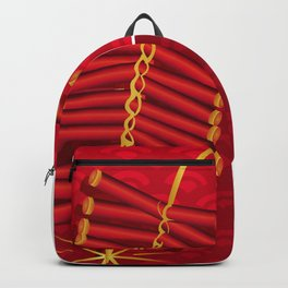 Firecrackers Vietnamese Lunar New Year Phao Tet Holiday Backpack
