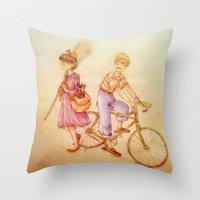 kiki Throw Pillows featuring .Kiki & Tombo. by Caprice Winters