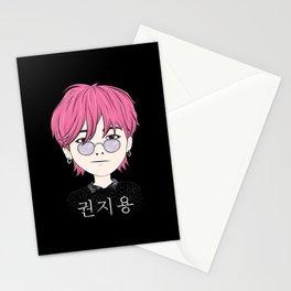 G-Dragon Cartoon Black Stationery Cards