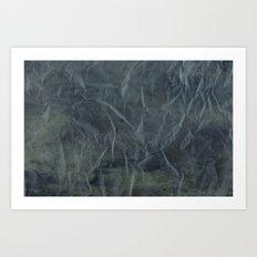 Steel Blue Paper Texture Art Print