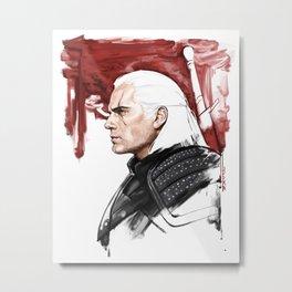 Geralt of Rivia Metal Print