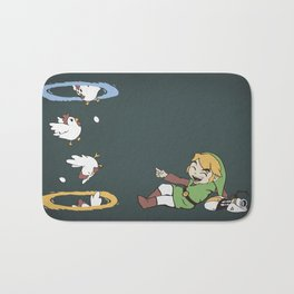 Thinking With Chickens Bath Mat