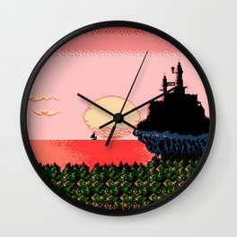 The Morning Sun Vanquished The Horrible Night Wall Clock