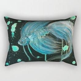 Green Splatter Betta Rectangular Pillow