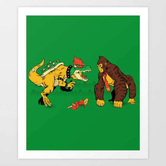 Boss vs Kong Art Print