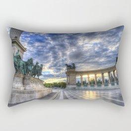 Heroes Square Budapest Sunrise Rectangular Pillow