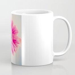 Acid Tongue, Pink Flower on Blue  Coffee Mug