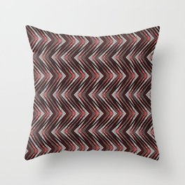 Orange and brown zigzag. Throw Pillow