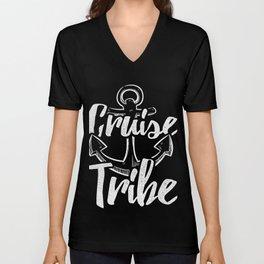 Cruise Tribe Cruising Vacation T-shirt Unisex V-Neck