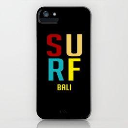 Surf Bali Retro iPhone Case