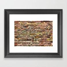Pink bricks Framed Art Print