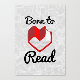 Born to Read II Canvas Print
