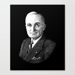 President Harry Truman Graphic Canvas Print