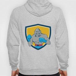 Gorilla Boxer Boxing Stance Crest Cartoon Hoody