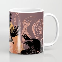 White Tara and Her Crows Coffee Mug