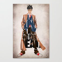 Doctor Who Inspired Tenth Doctor's Typographic Artwork Canvas Print