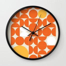 Circle Pattern - Orange  Wall Clock