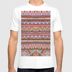 TRIBAL NOMAD White Mens Fitted Tee MEDIUM