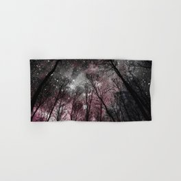 Black Tress Pink & Gray Space Hand & Bath Towel
