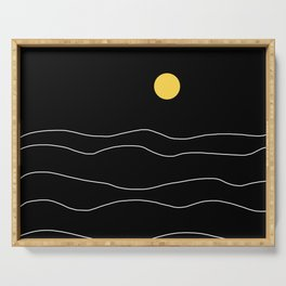 Black Ocean Serving Tray