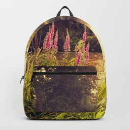 Golden end of a day Backpack