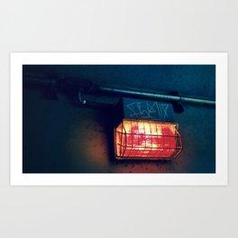 Tunnel Light - Retro Art Print