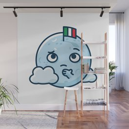 Confused Moon Wall Mural