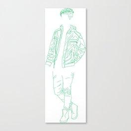 Boy Greeny Canvas Print
