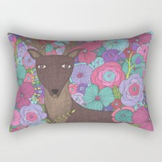 The Wise Stag Rectangular Pillow