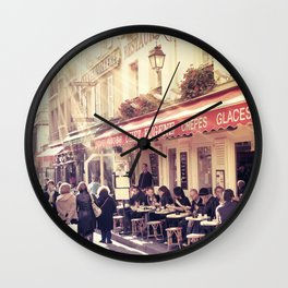 Montmartre Cafe Wall Clock