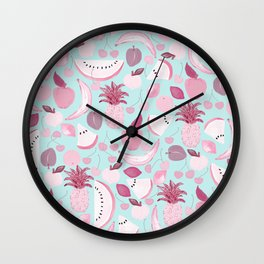 Fruit Punch Blush I Wall Clock