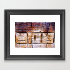 Wood Carving Framed Art Print