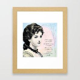Poetry Girls: Wildflower Girl Framed Art Print