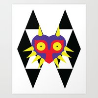 majora Art Prints featuring Minimalist Majora by Bradley Bailey