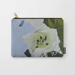 Baby Blue Lilly Carry-All Pouch