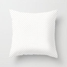 Minimal Gold Polka Dots Throw Pillow
