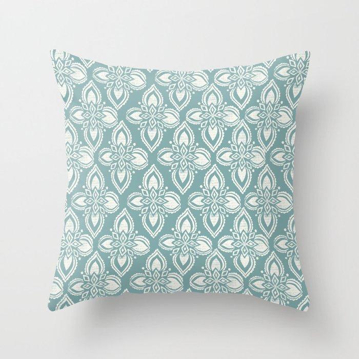 Star Block Print Throw Pillow