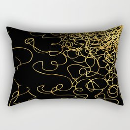 swirly gold gradient Rectangular Pillow
