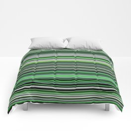 Emerald & Forest Stripes Comforters