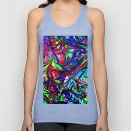 Abstract Color Mix Painting Art Unisex Tank Top
