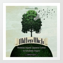 MITTEN WICK Art Print