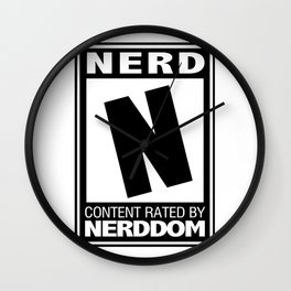 Rated N for Nerd Wall Clock