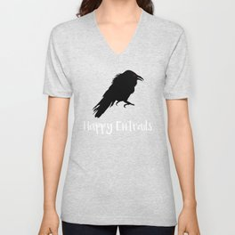 Halloween Happy Entrails Vulture Unisex V-Neck
