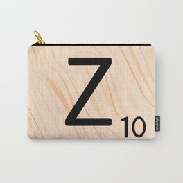 Scrabble Letter Z - Scrabble Art and Apparel Carry-All Pouch