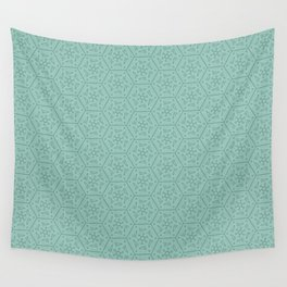 Going Round and Round - Mint Wall Tapestry