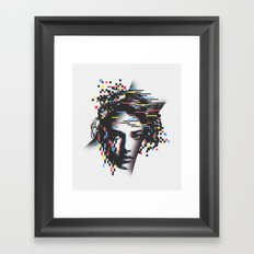 Glitch Woman Framed Art Print