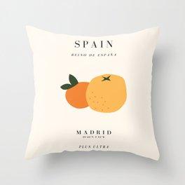 Spain Exhibition Throw Pillow