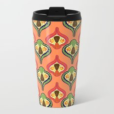Retro Pinecones Metal Travel Mug