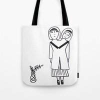 preppy Tote Bags featuring preppy by Coco Huang