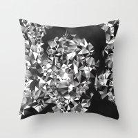 kafka Throw Pillows featuring Kafka by Alessandra M